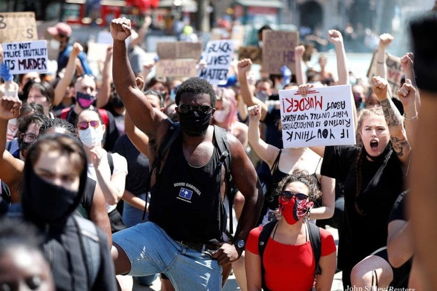 Were the George Floyd and Black Lives Matter protests mostly responsible for the surge in COVID-19 cases happening throughout the country?