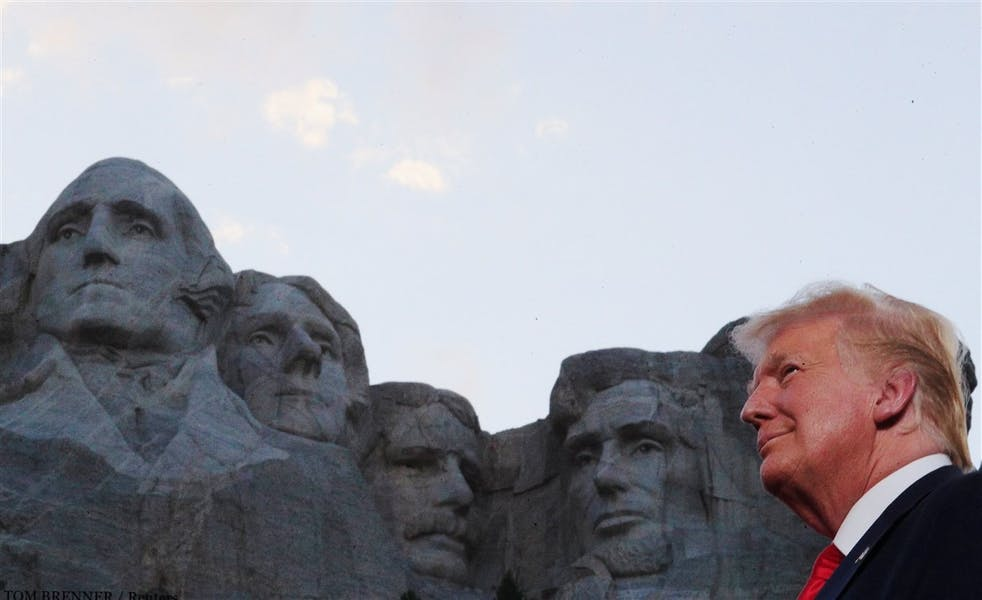 Was Donald Trump's 4th of July speech at Mt. Rushmore divisive to the country?