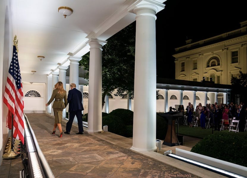 Is Trump abusing his power by using the White House for the RNC?