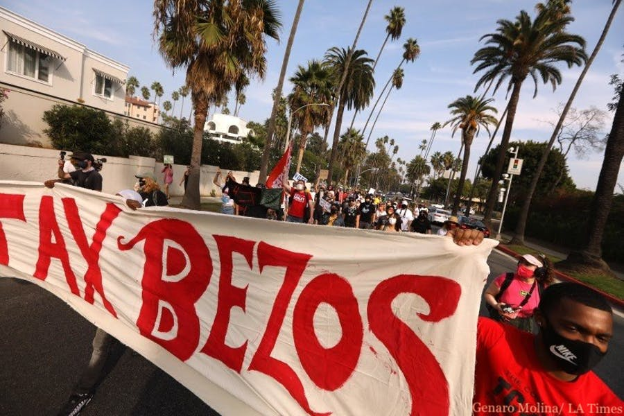 Is it right for Amazon workers to protest outside Jeff Bezos' LA home?