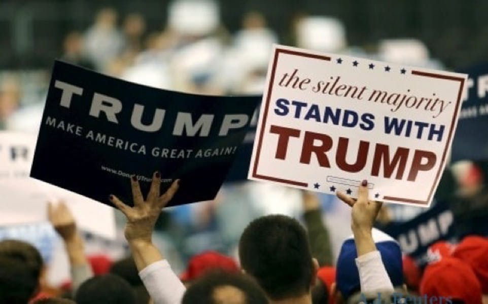 Is Trump correct in saying that there is a vast silent majority of voters in support of his re-election?