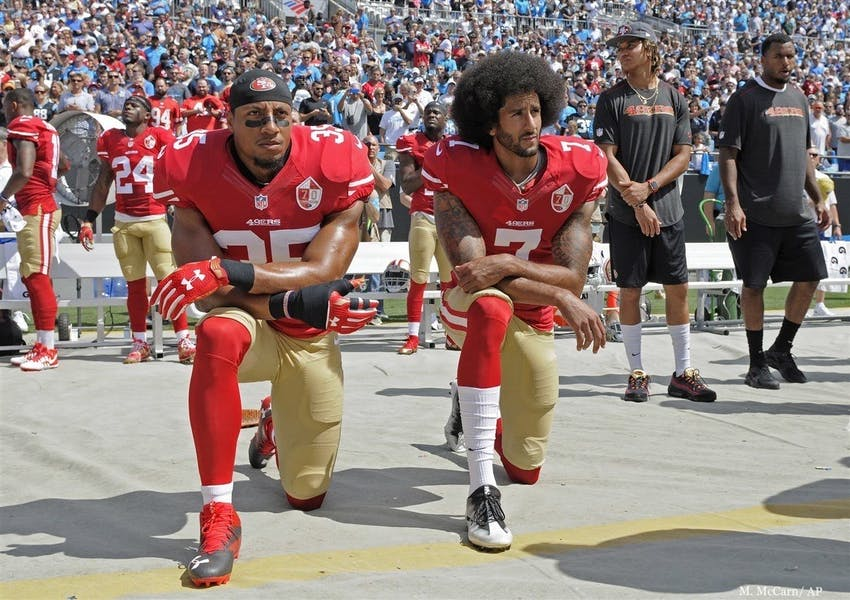 Is it anti-American to kneel for the national anthem?