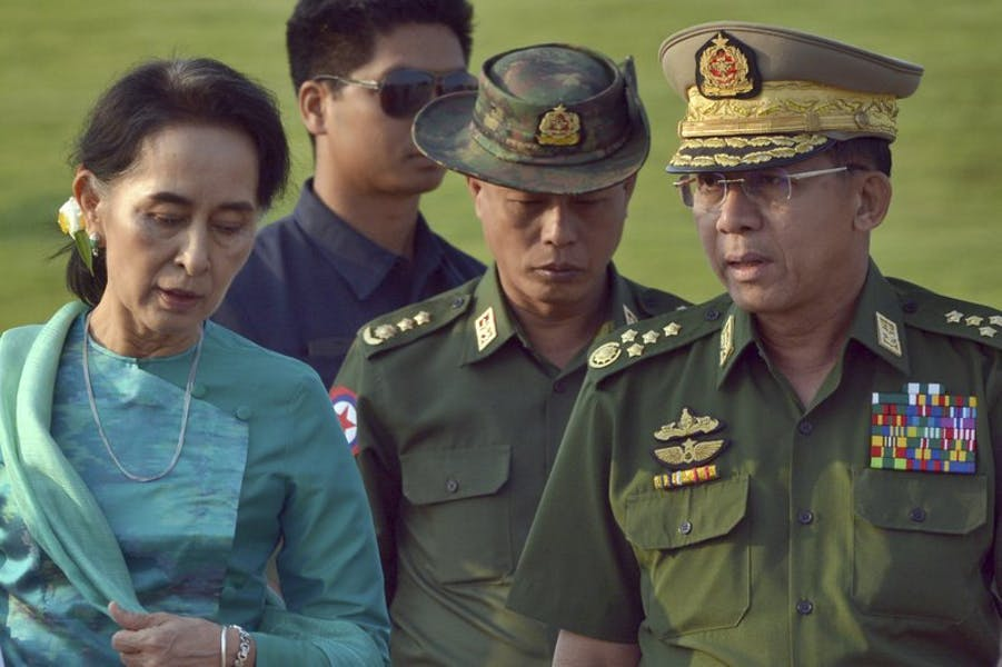 Is Sec. of State Blinken right to condemn Myanmar's military coup?