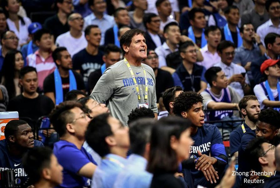 Is the NBA right to overrule Mark Cuban for not playing national anthem?