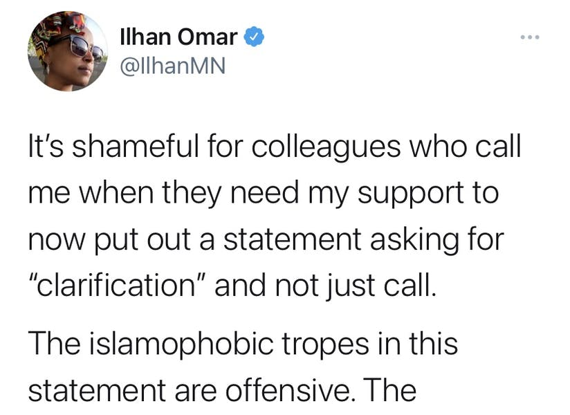 Is Rep. Omar right to criticize Israel/US comparison as 'islamophobic'?