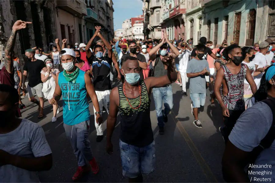 Is US responsible for Cuban economic scarcities?